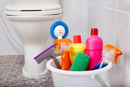 How often should we clean the bathroom