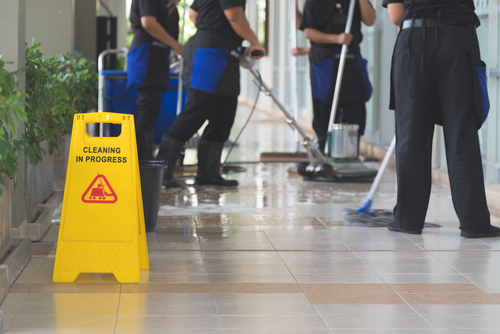 What do commercial cleaners do