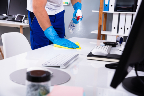 How do I clean my office during the coronavirus pandemic