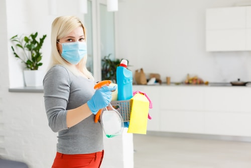 How often should I disinfect my workplace?