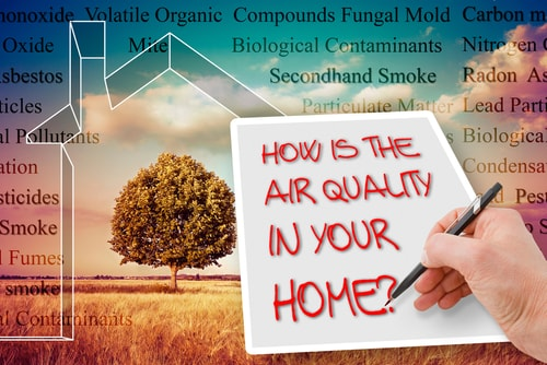 How can I check the air quality in my home?