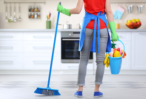 Which areas should I focus on when cleaning my Airbnb