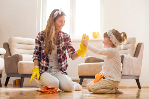 What cleaning should be done monthly